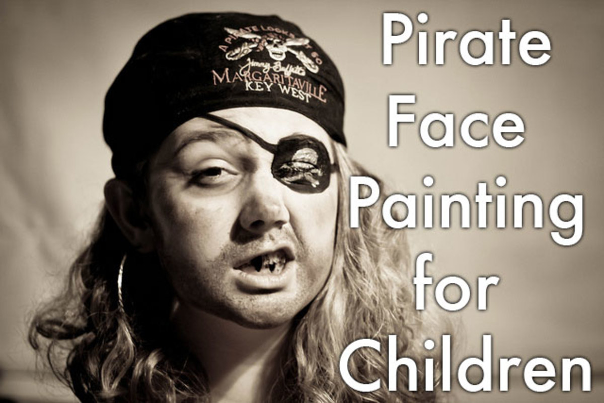 Pirate face painting tips and tutorials.