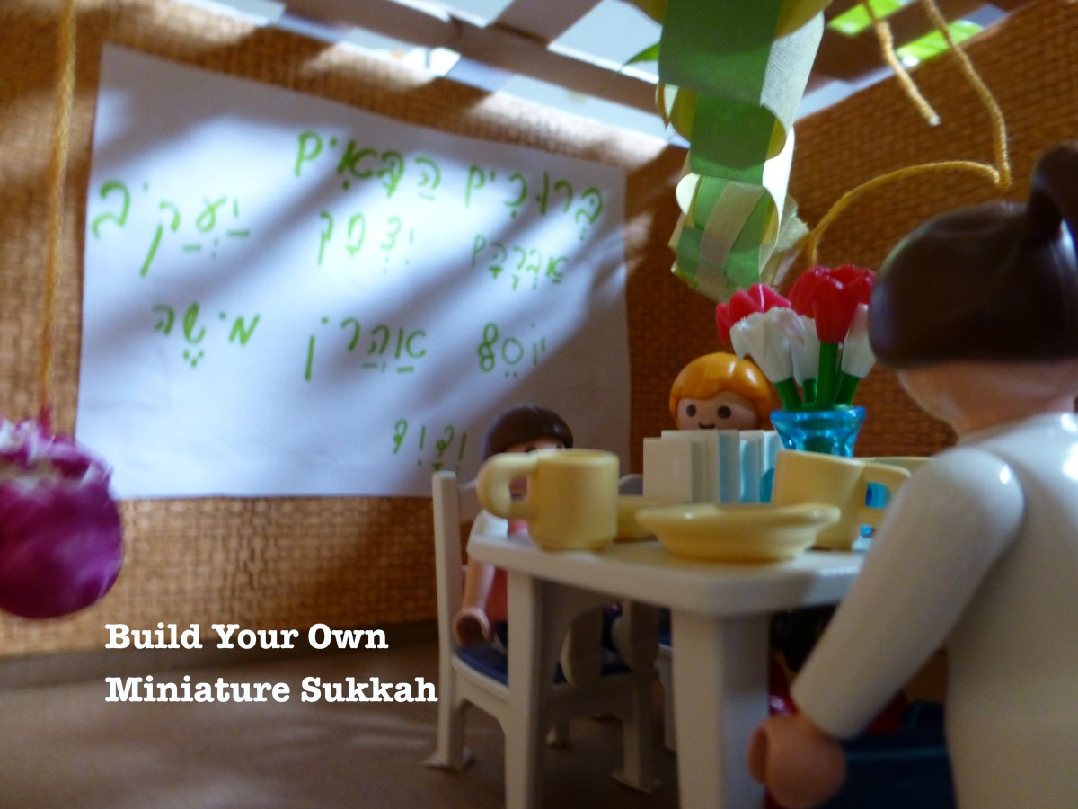 How to Build a Model Sukkah (Sukkot Craft for Kids)
