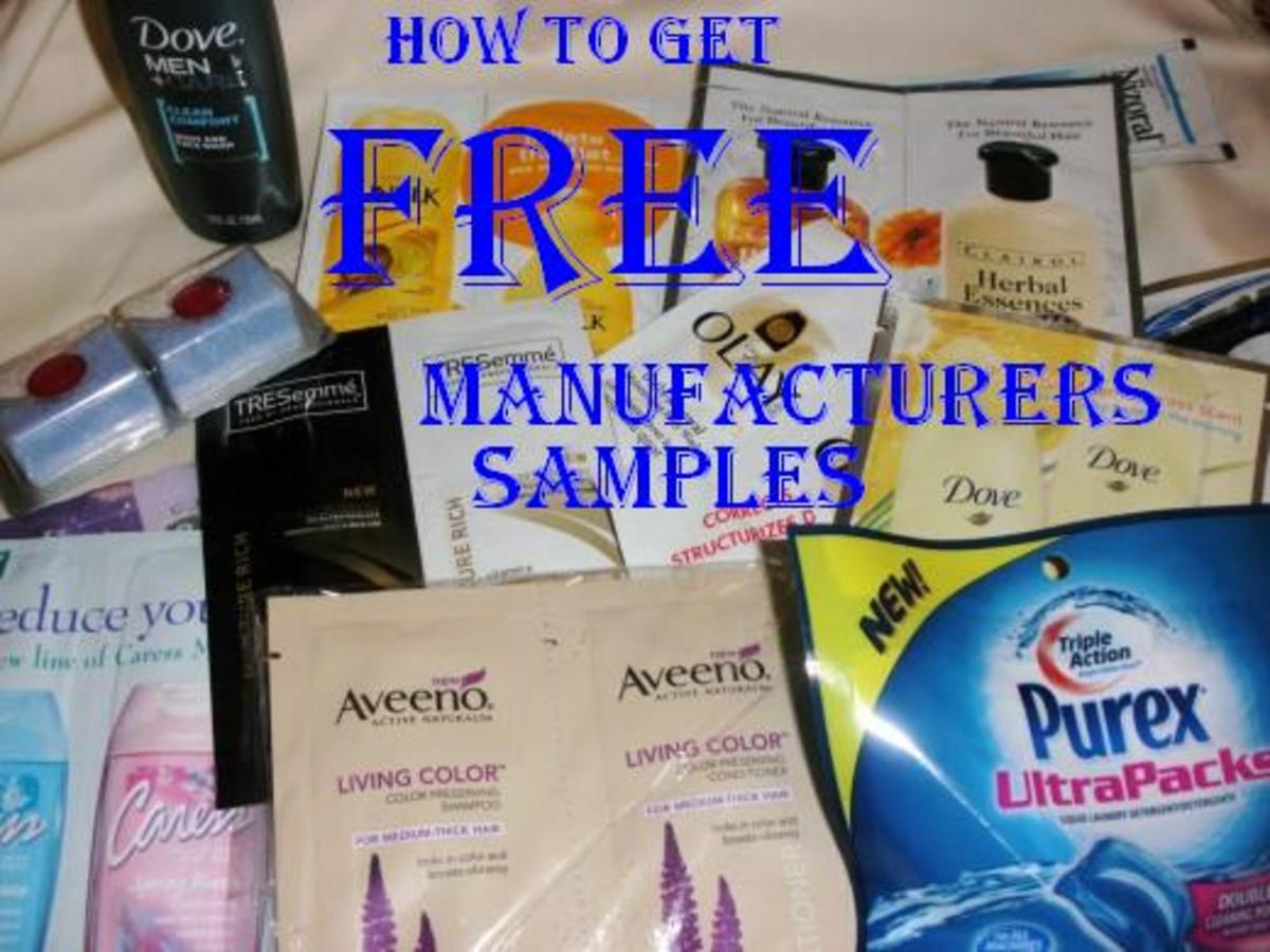 How To Get Completely Free Manufacturer Samples By Mail