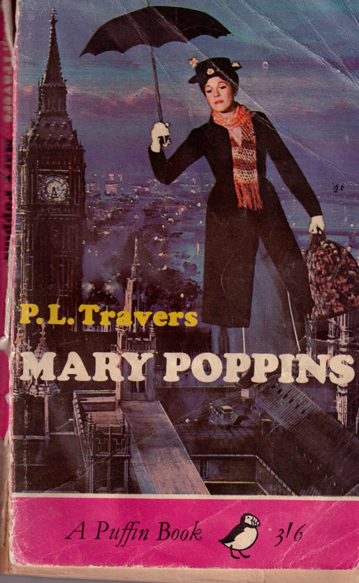 My childhood copy of the first Mary Poppins book