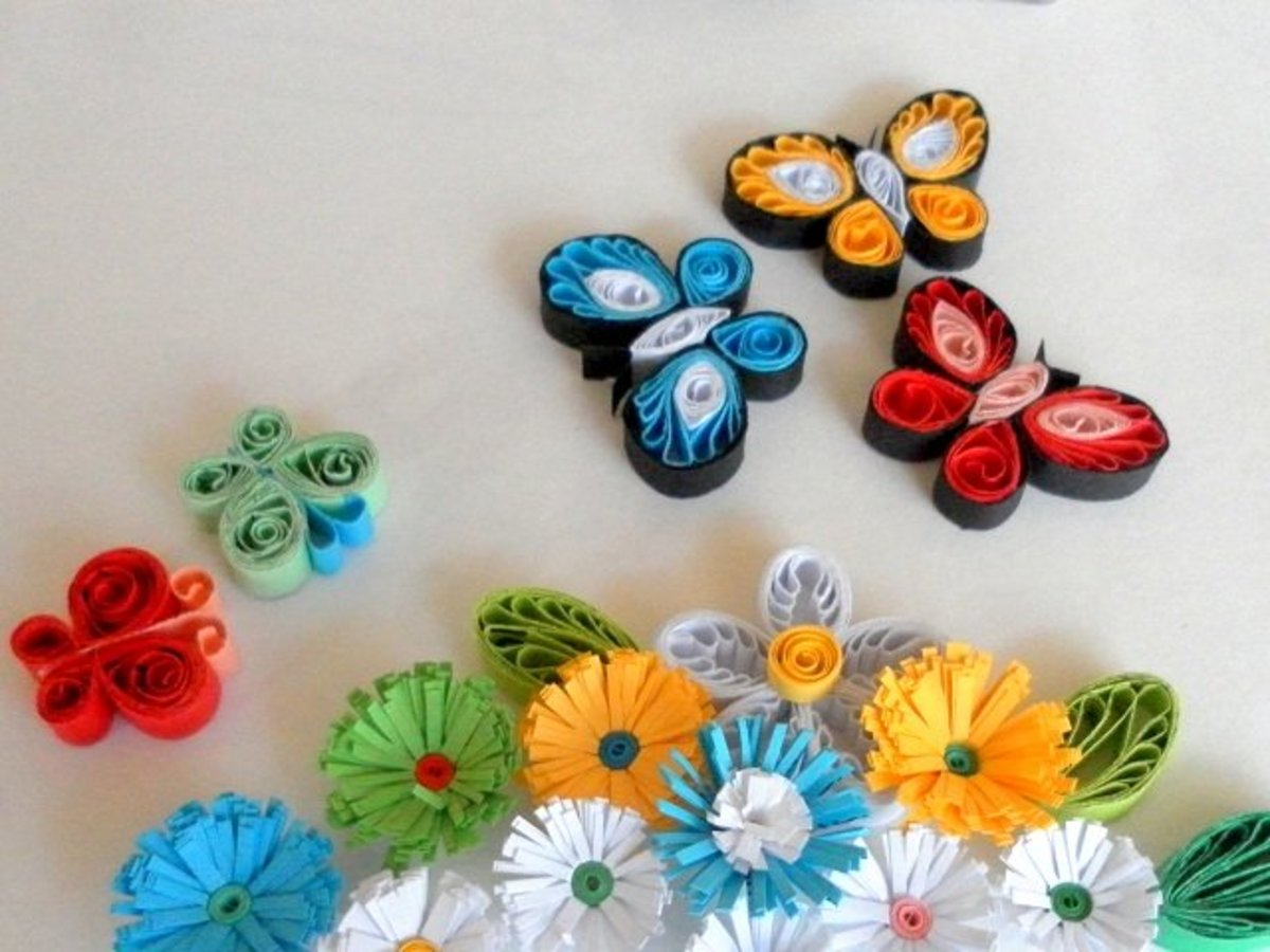 Paper Quilling How To Make Quilled Butterflies And Flowers Feltmagnet Crafts