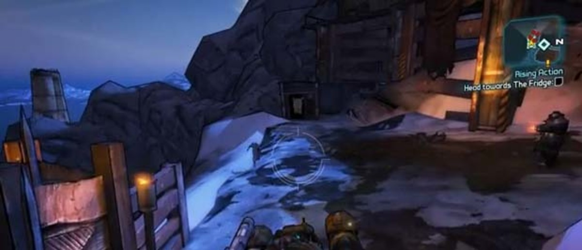 Borderlands 2 enter the fridge once the bandits have been defeated.