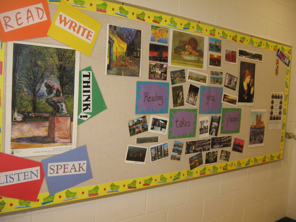 Middle School Reading Classroom Decorations ~ Bulletin boards and wall décor for high school english