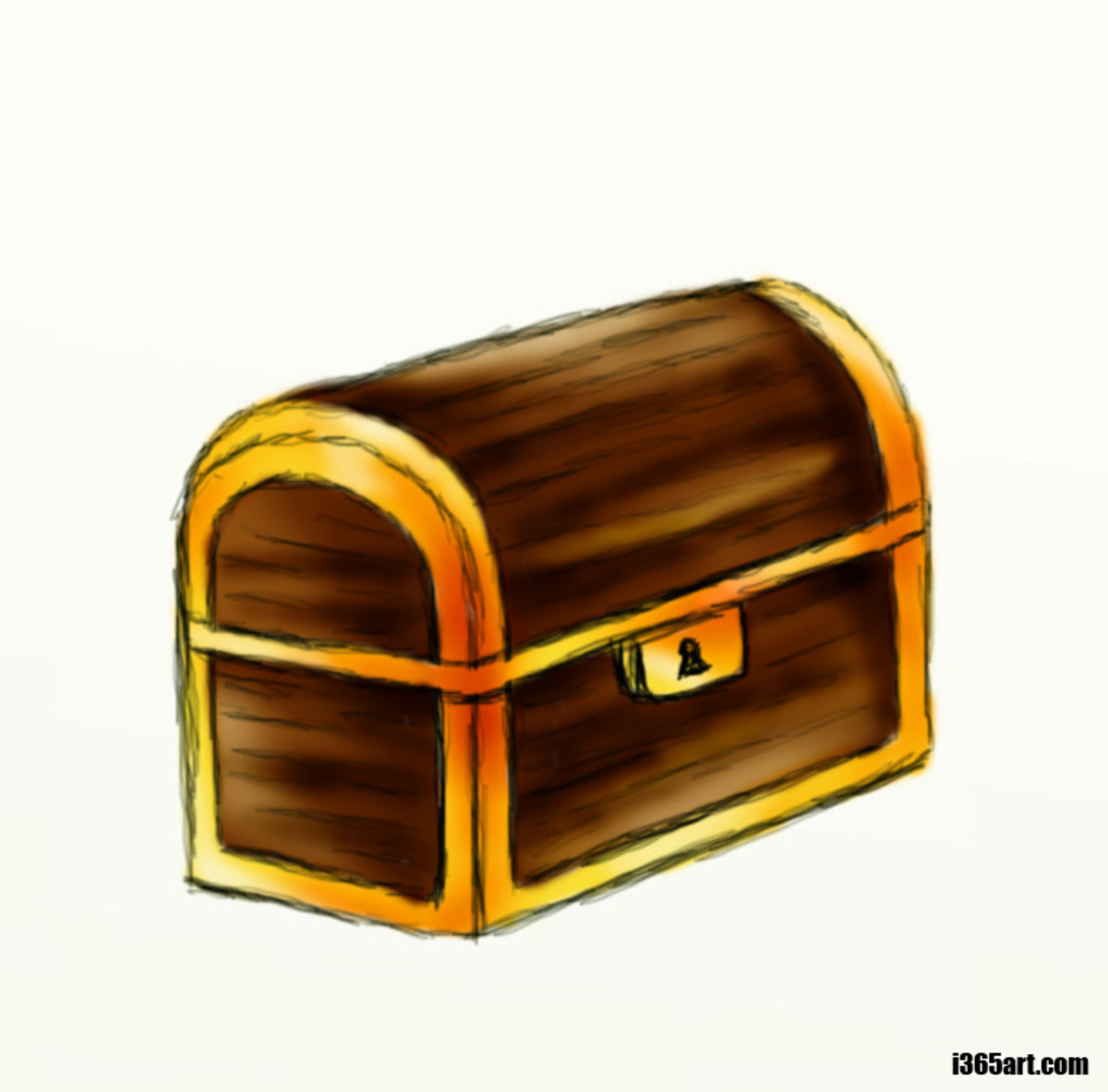How to draw a treasure chest | hubpages