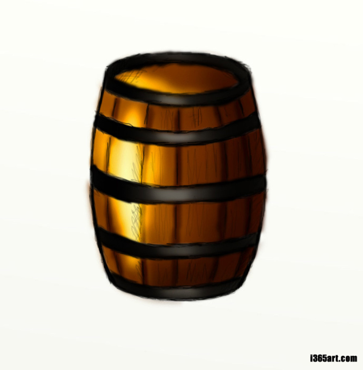 How to Draw a Wooden Barrel