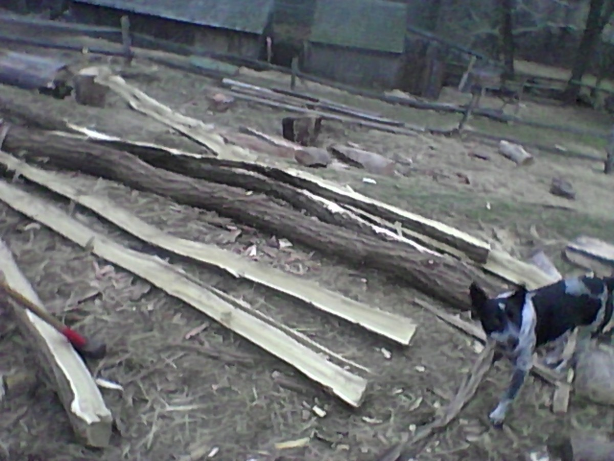 How to Split Fence Rails Out of Logs