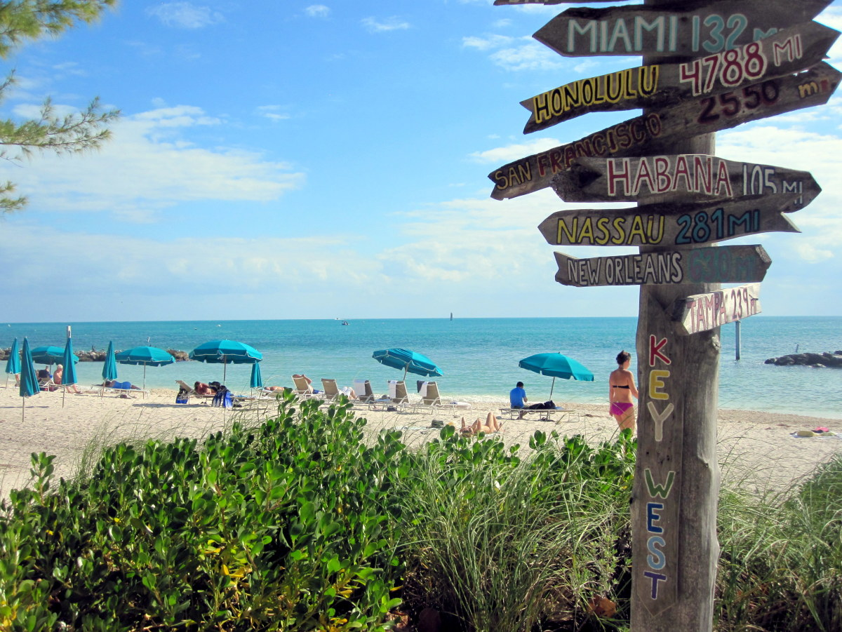 The best beach in Key West is found at Fort Zachary Taylor State Park