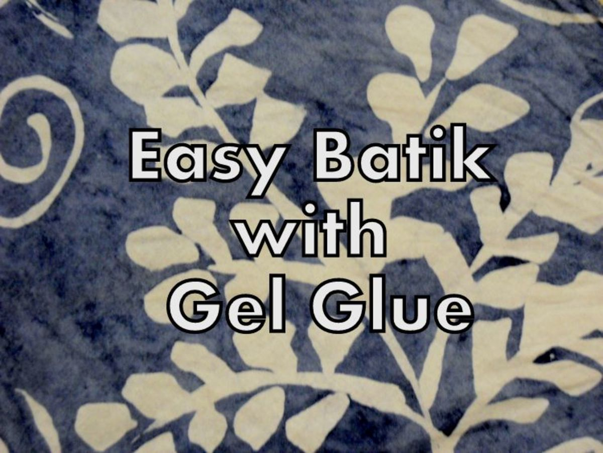 How to Easy/Simple Batik with Gel Glue