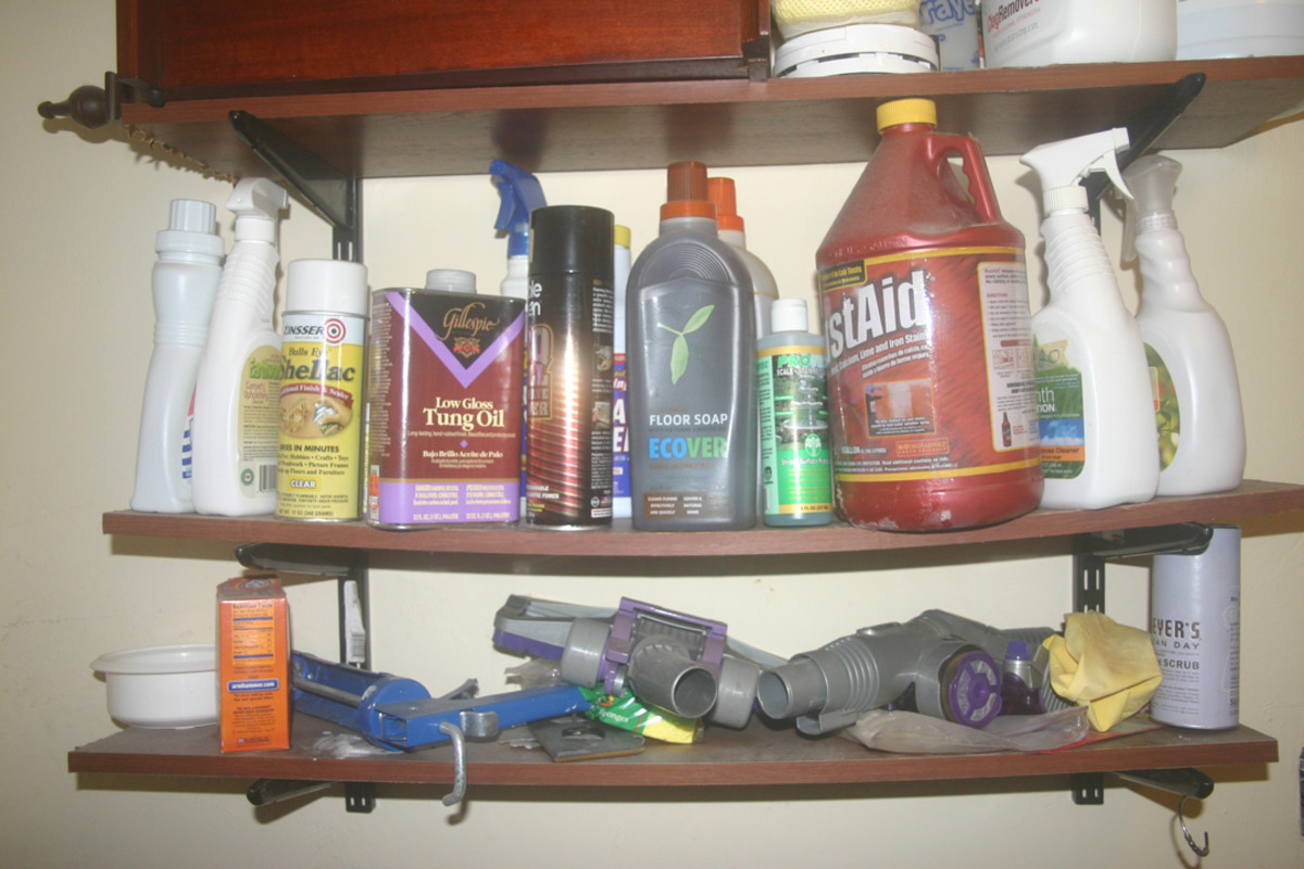The set of utility shelves I built using the WBS and one of the activity lists in this article.