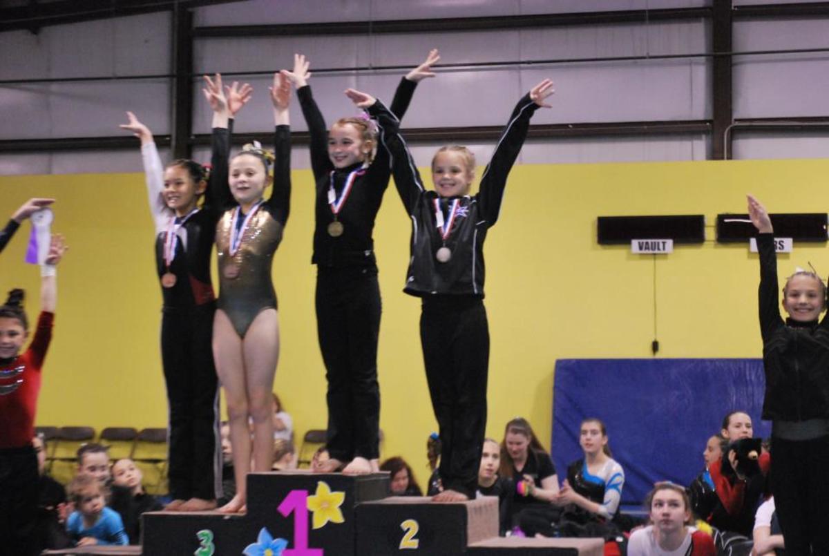 My Daughter on the Podium at a Gymnastics Meet