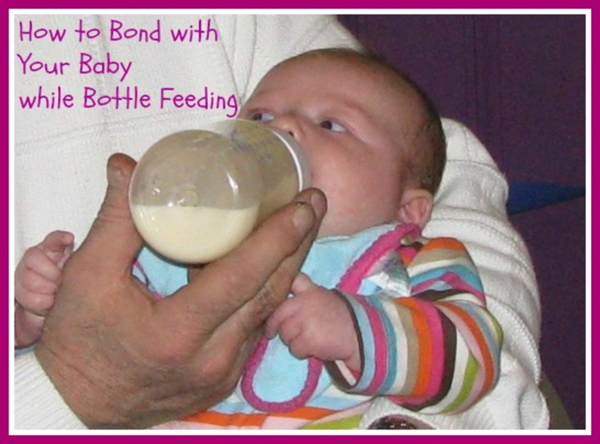 Learn how you can bond with your baby while bottle feeding.