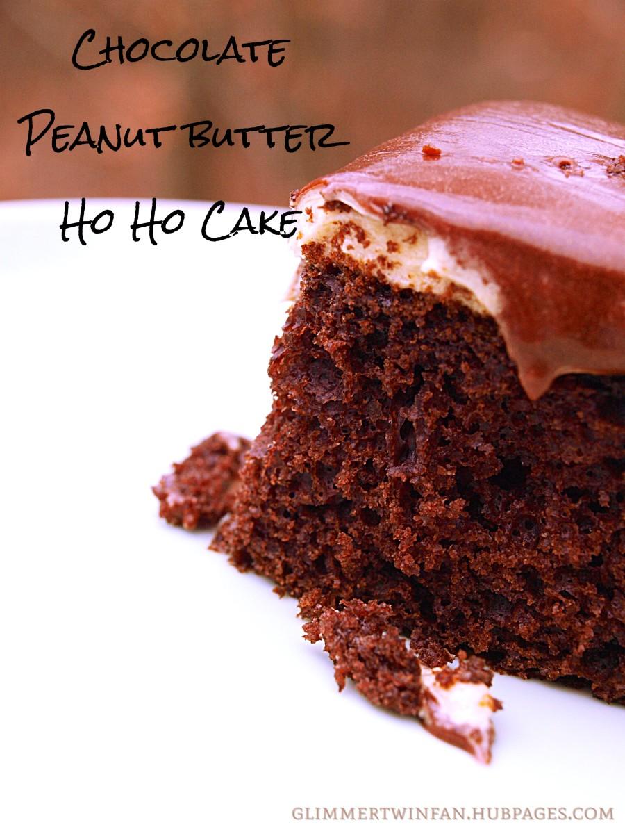 Chocolate Peanut Butter Ho Ho Cake