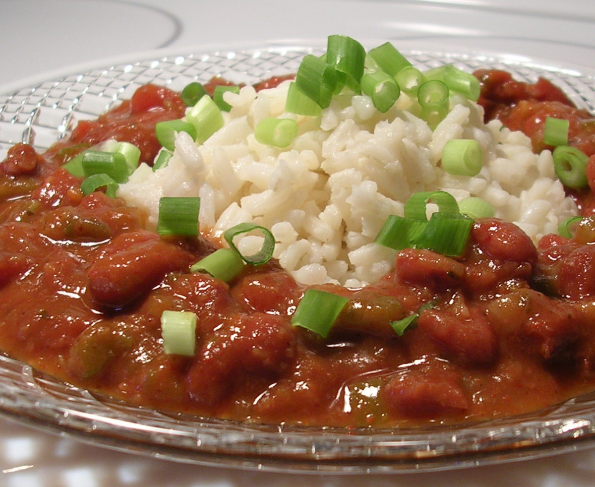 Savory vegetarian red beans and rice, with a smoky kick.