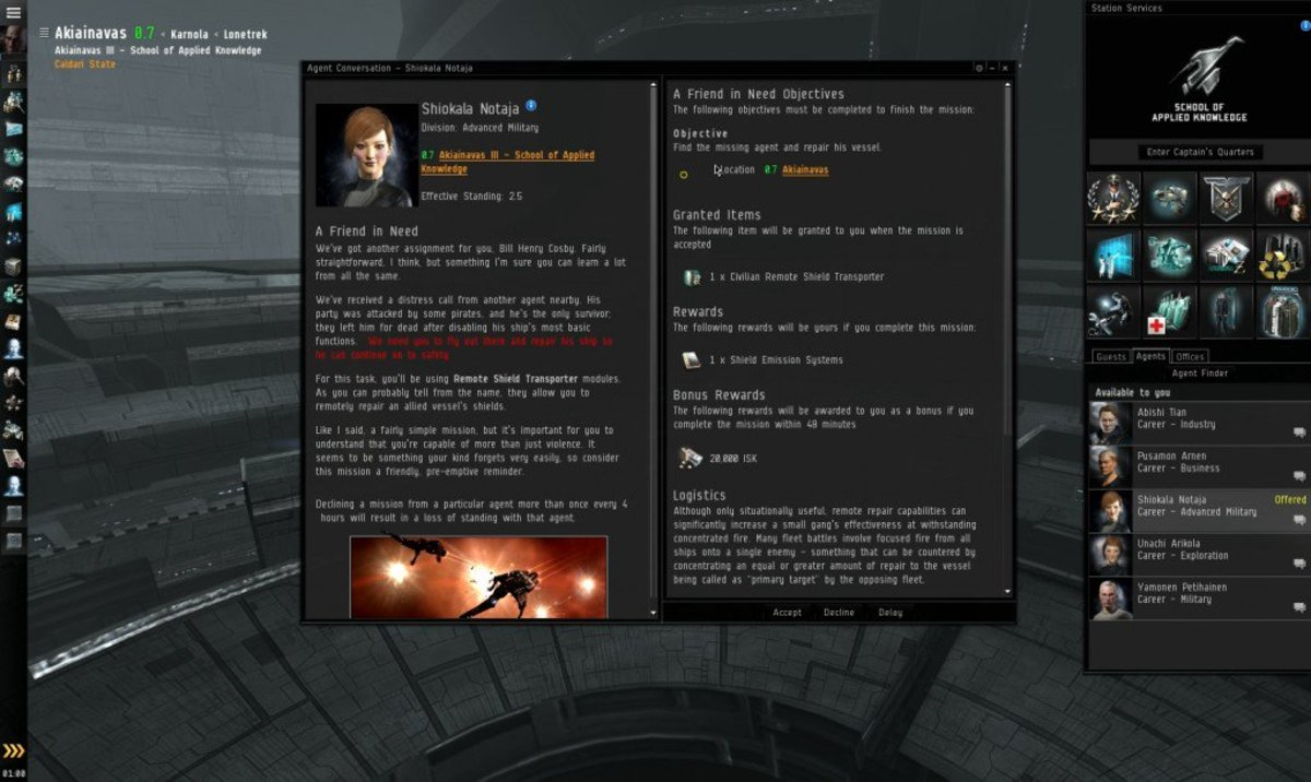 """""""EVE Online"""" Advanced Military Arc Guide: A Friend In Need (Mission 4)"""