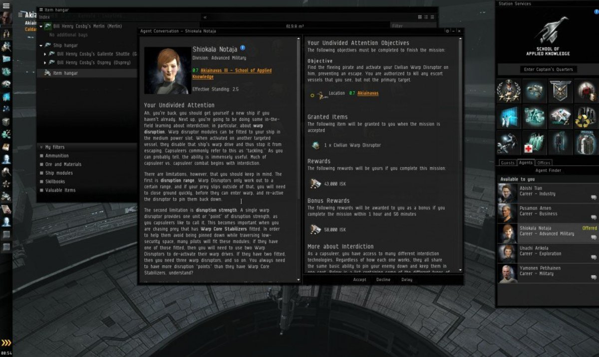 """EVE Online"" Advanced Military Arc Guide: Your Undivided Attention (Mission 3)"
