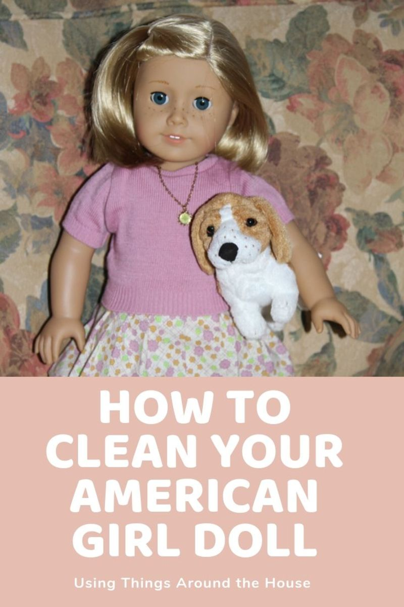 You can make an American Girl doll look like new again for the cost of a wide metal bristle brush and some things you already have around the house.