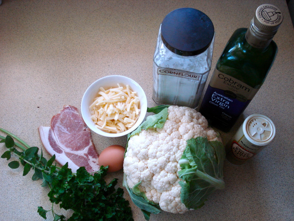 The Ingredients for Cauliflower Cheese