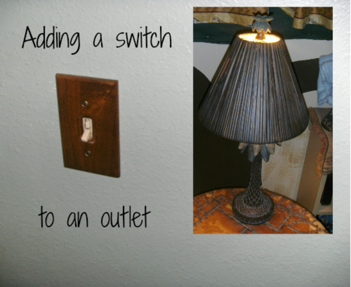 Wall switches can be added to control plug in lamps and other devices.