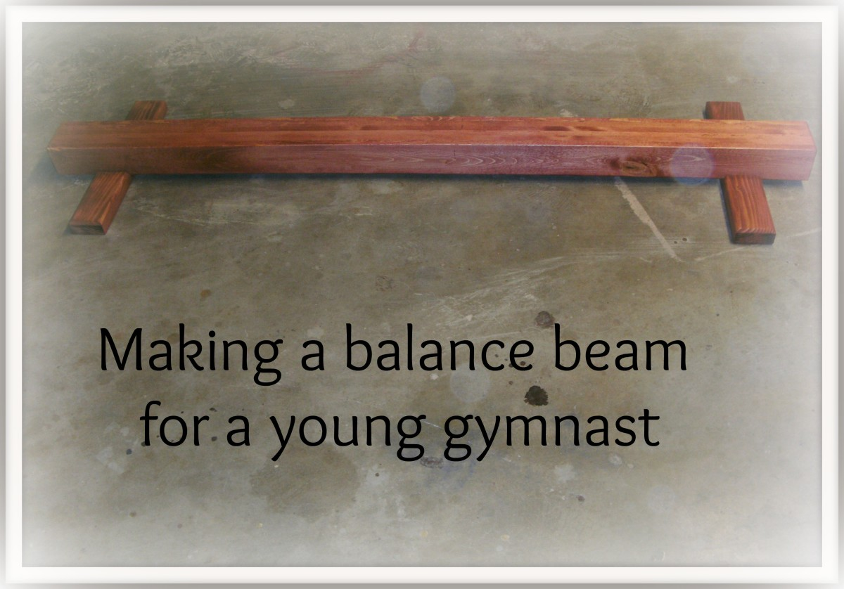 Young gymnasts need apparatus to practice on.  Equipment that you can often make yourself to fit your needs and budget.