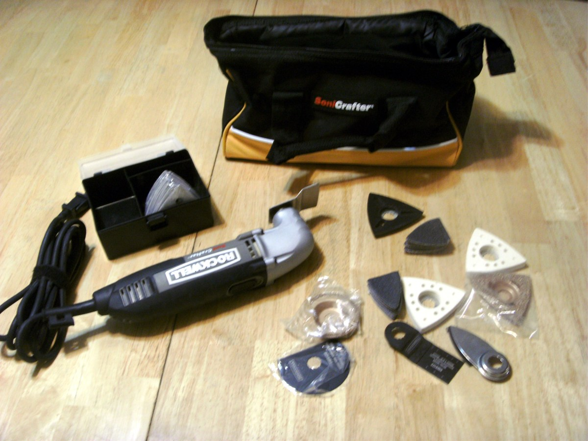 The kit reviewed here is the 72 piece Sonicrafter from Rockwell