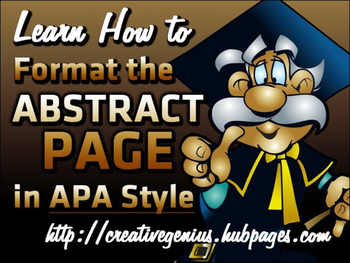 Learn how to create the Abstract page for your paper