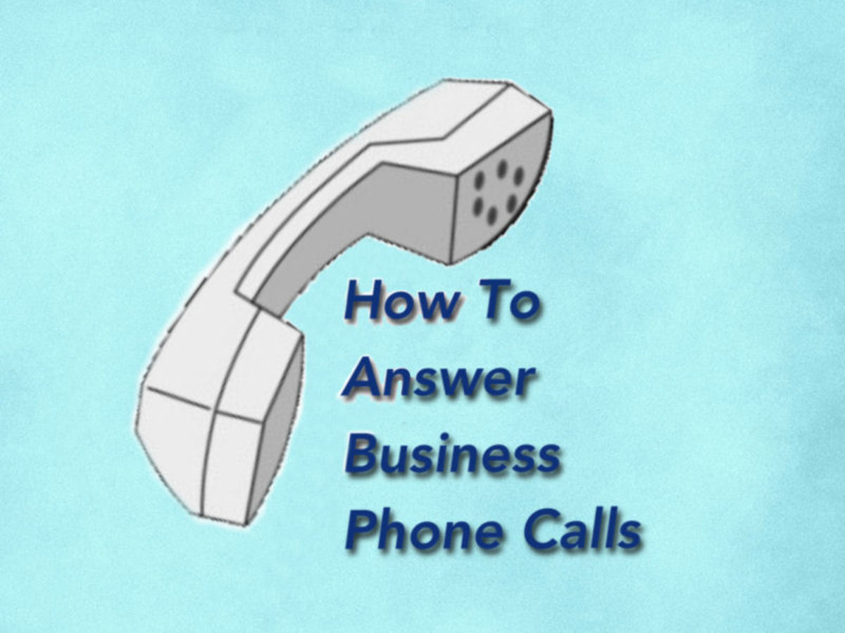 How to handle telephone calls in a businesslike manner toughnickel kristyandbryce Choice Image