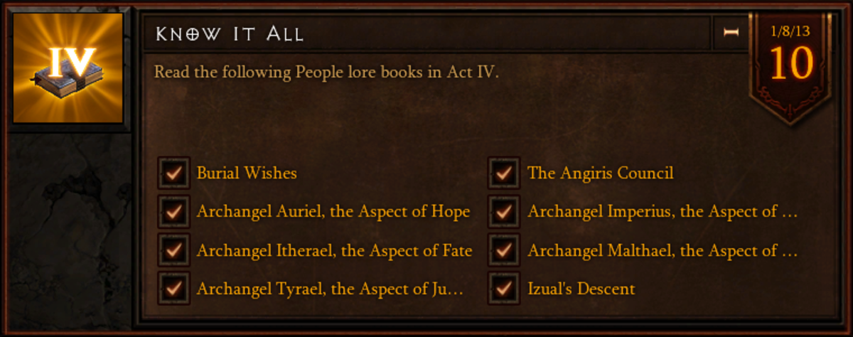 Know It All - Act IV People Lore Book Location Guide - Diablo 3