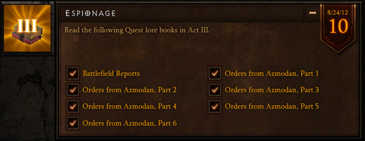 Espionage - Act III - Quest Lore Book Location Guide - Diablo 3