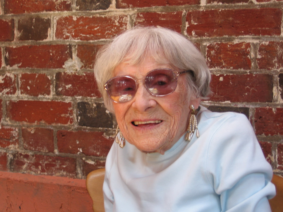 My late grandmother, aged 96 - always a key presence in my life