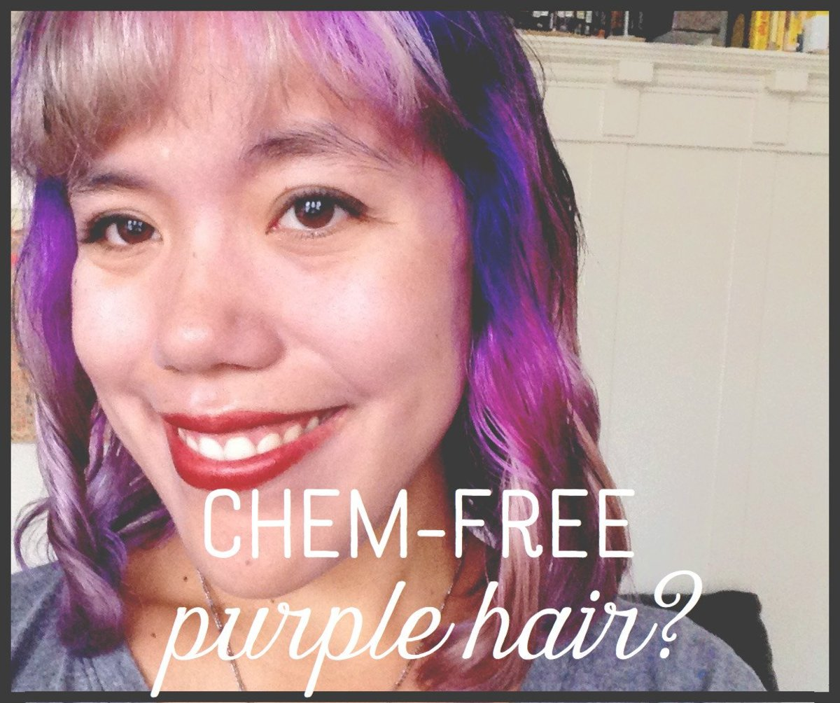 Learn how to dye your hair purple the natural way, and skip the harsh chemicals.