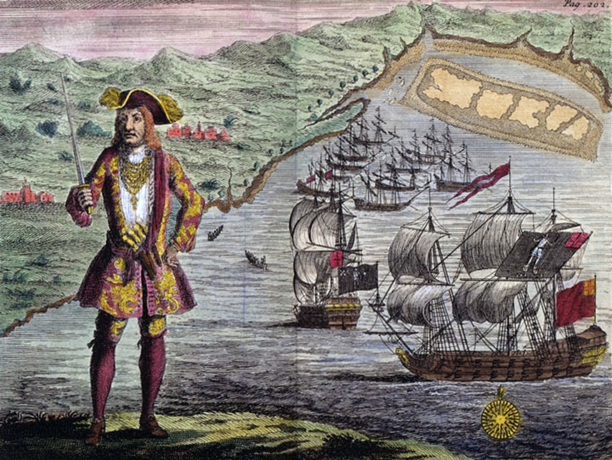 Captain Bartho. Roberts with two Ships, Viz the Royal Fortune and Ranger, takes in Sail in Whydah Road on the Coast of Guiney, January 11th. 1721/2.