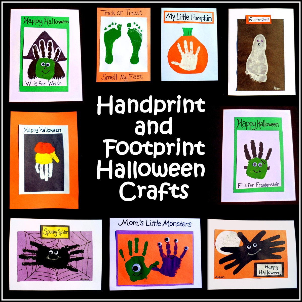 Easy Halloween Crafts Handprint And Footprint Art FeltMagnet