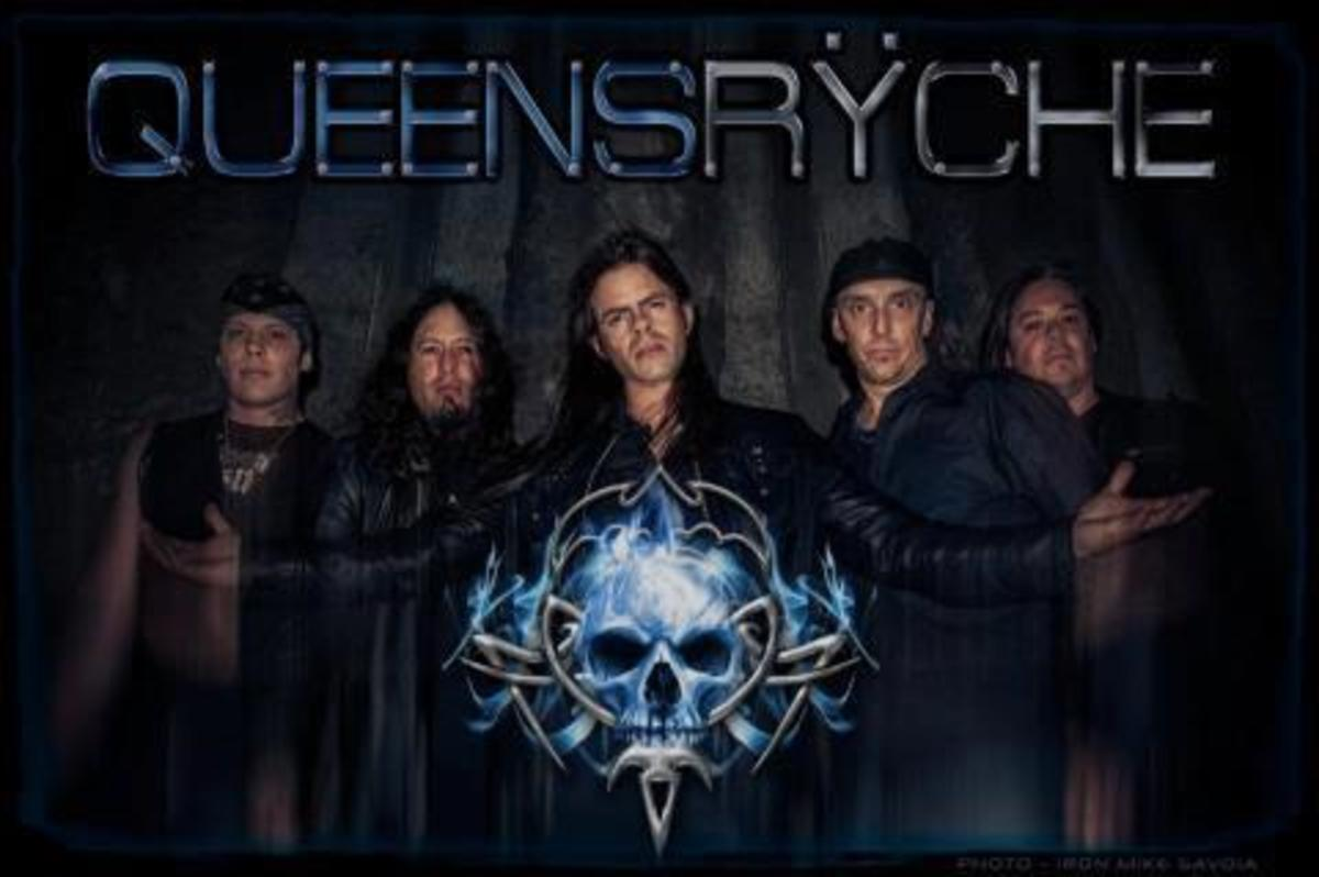 "The ""original"" Queensrÿche, with new frontman Todd LaTorre (center)"
