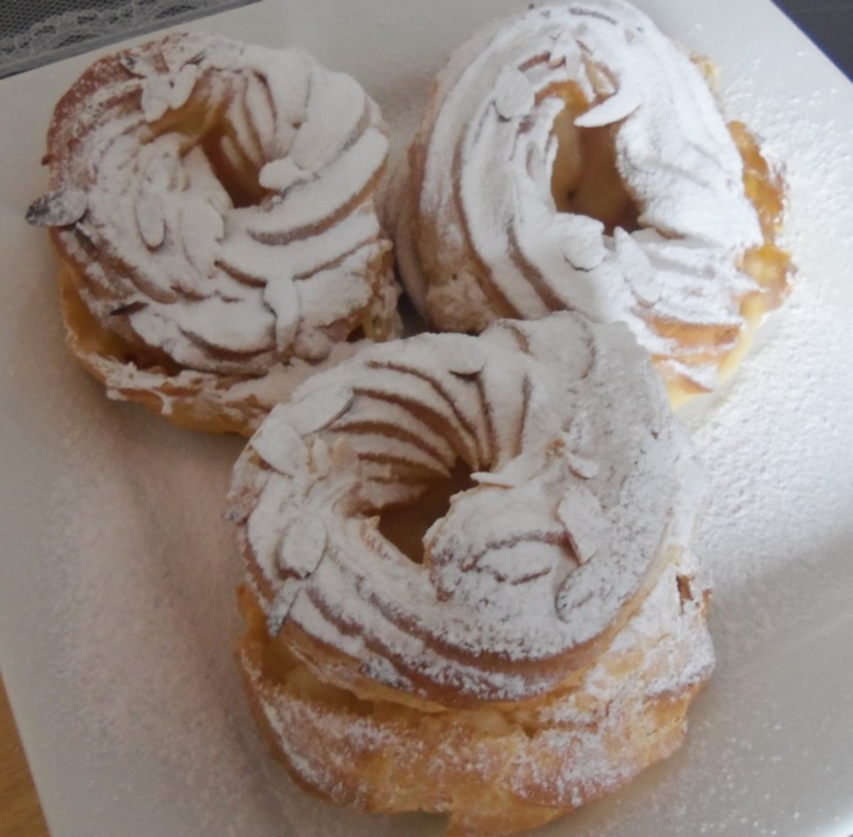 Paris-Brest are one of the great desserts you can make using choux pastry.