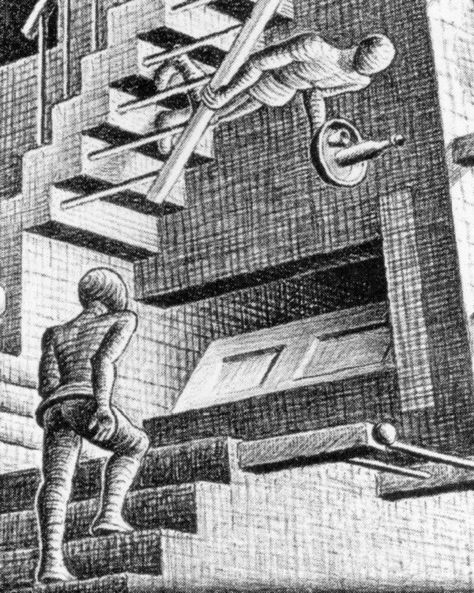 Section of Relativity by M.C. Escher