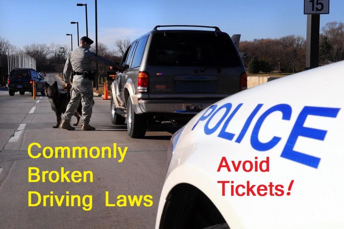 Obey this list of the nine most commonly broken traffic laws and stay out of trouble.