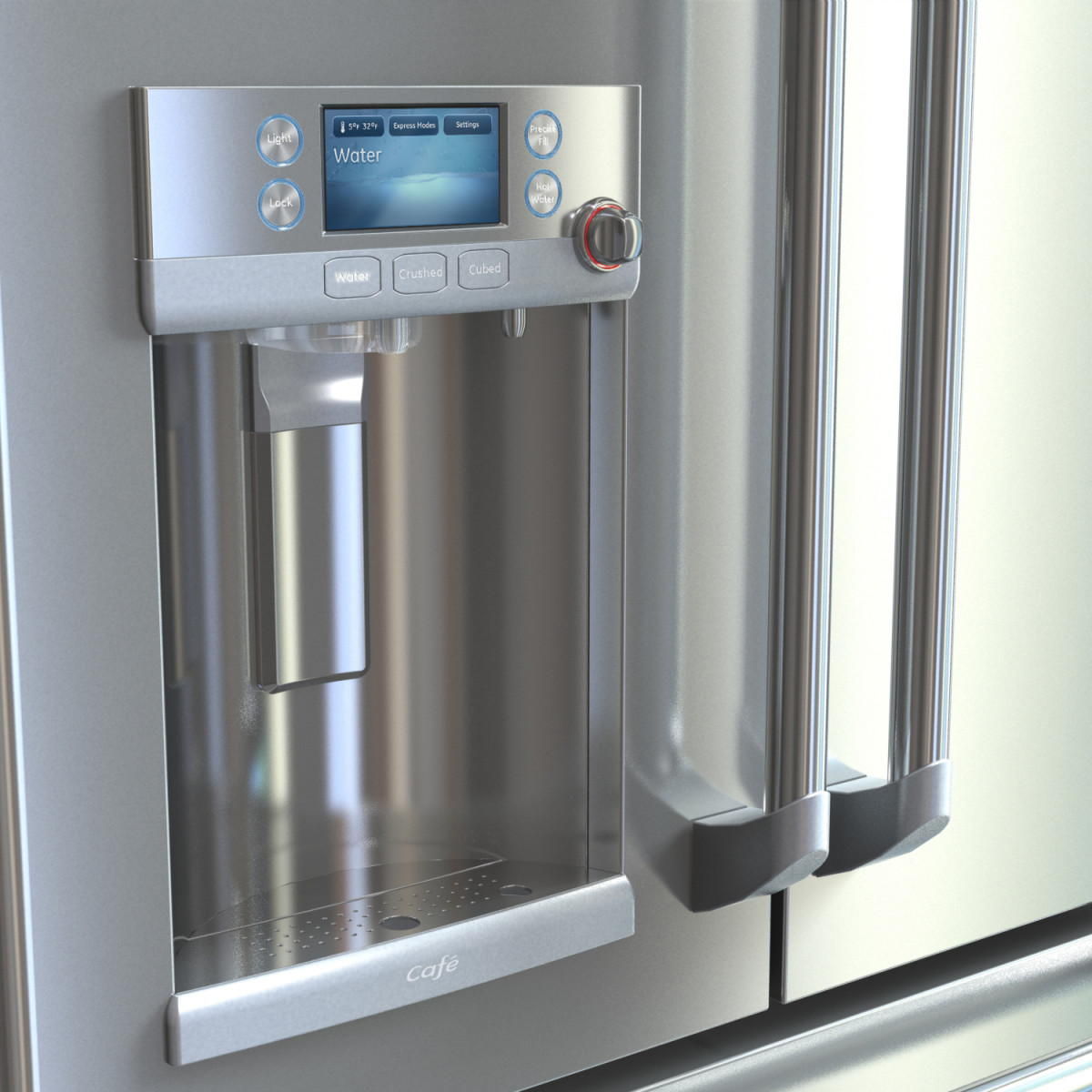 Stainless Steel Refrigerator with Water Dispenser