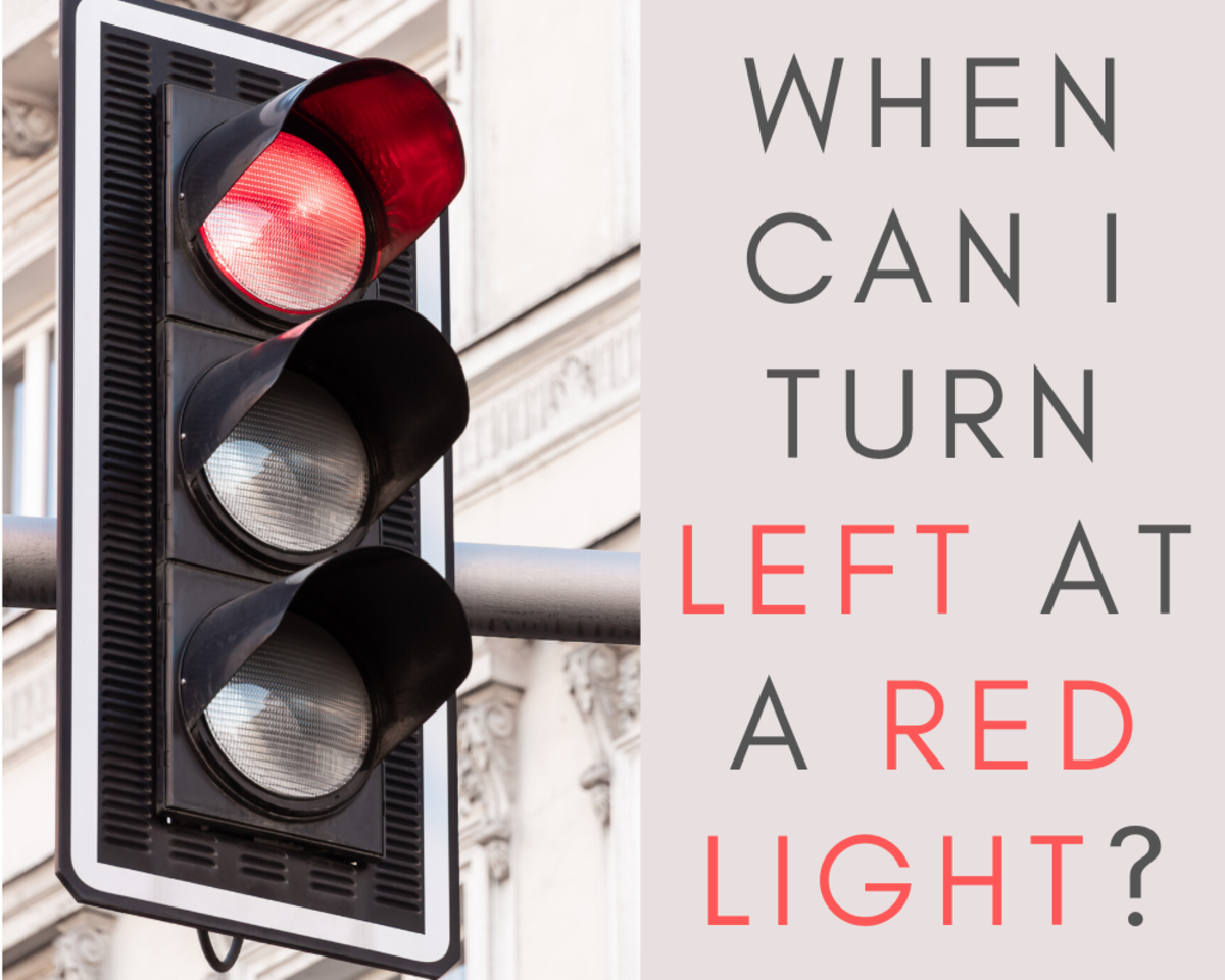 Where and when can you turn left on a red light?