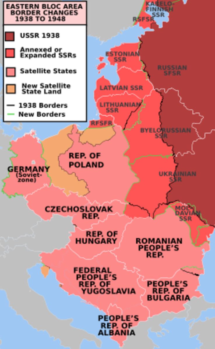 This map has the old names of some countries but reprezents the geographical area of the former communist bloc.