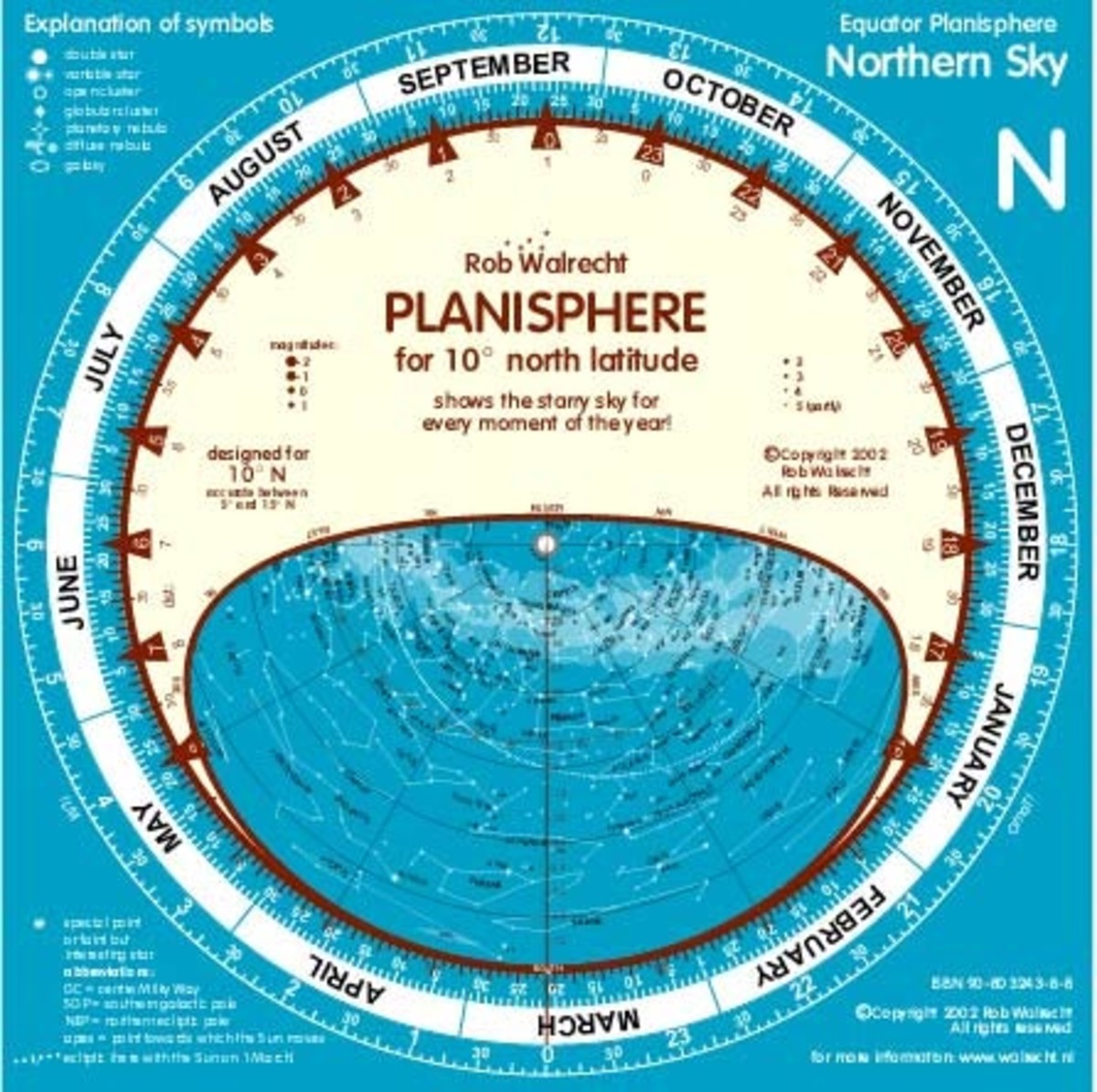 This one of many version of planisphere or star finder chart available on the market.