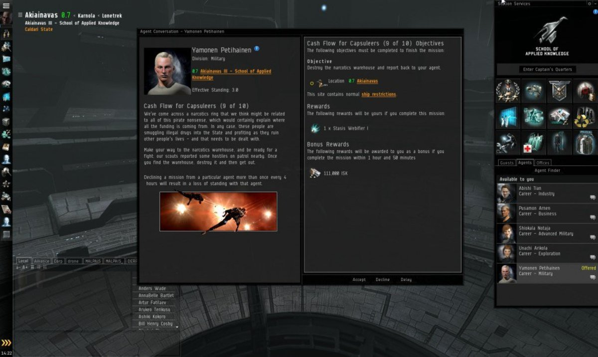 """""""EVE Online"""" Military Arc Guide: Cash Flow For Capsuleers (9 & 10)"""