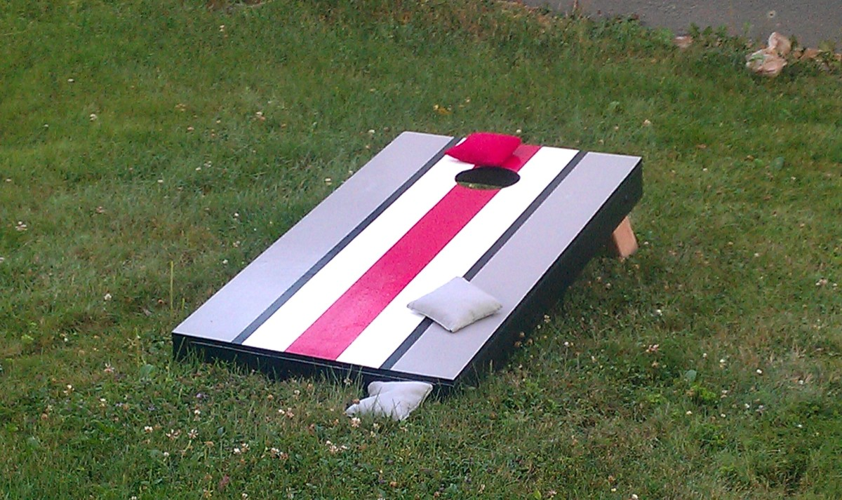 DIY Make your own bean bags or cornhole bags at home