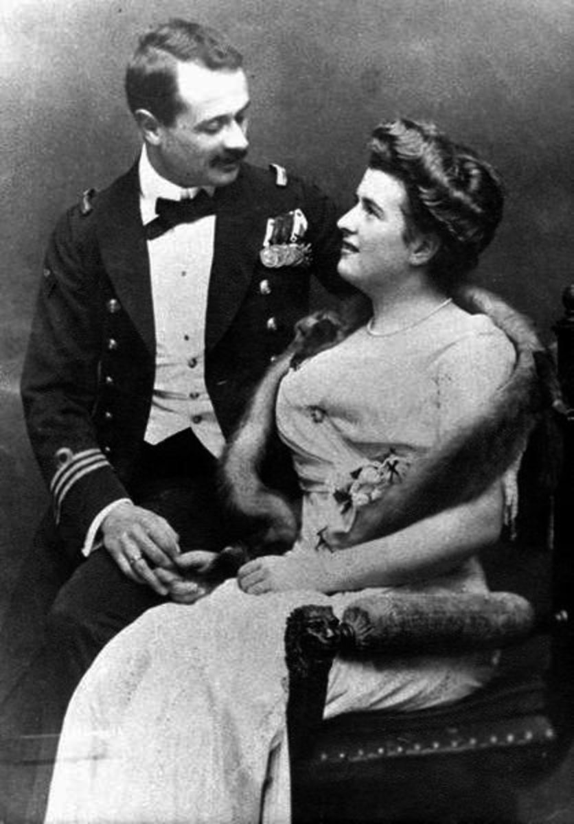 Georg Johannes von Trapp and his first wife, Agathe Whitehead circa 1910.