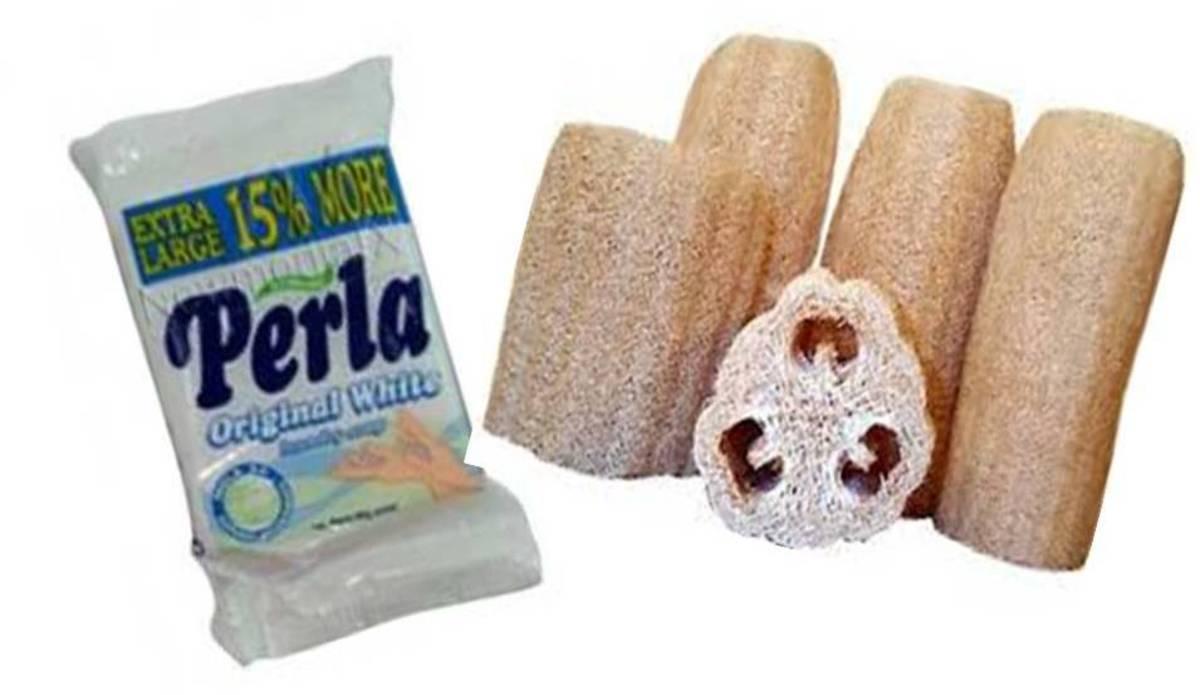 Perla White Soap and Luffa