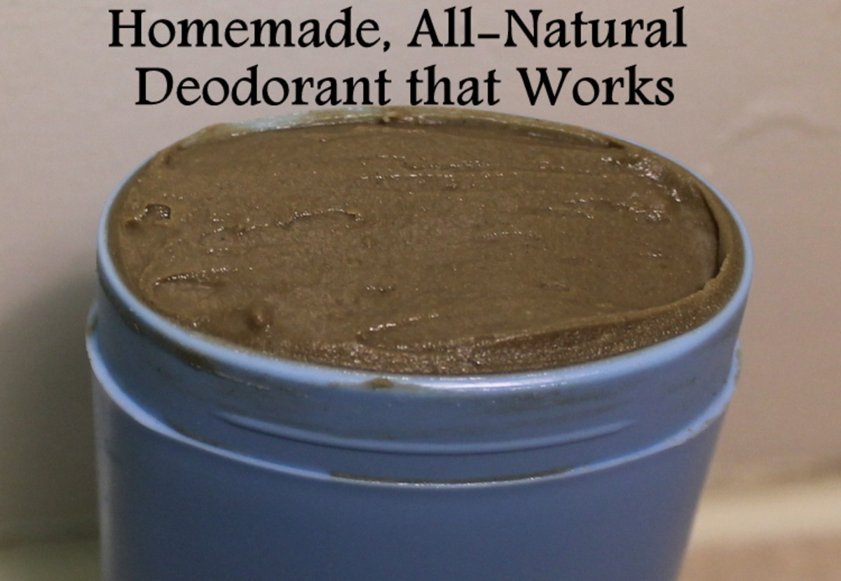All-Natural Homemade Deodorant Recipe With Bentonite Clay