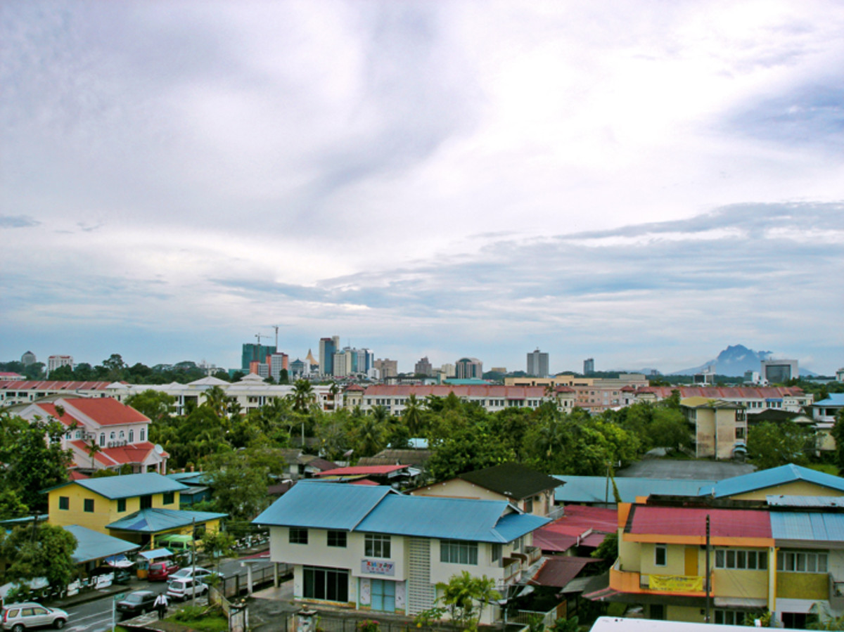 Skyline of Kuching