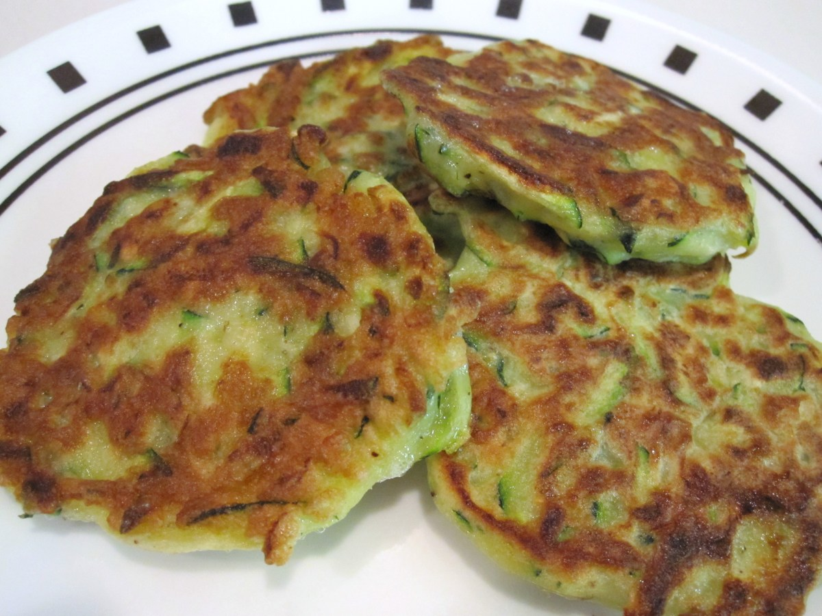A completed batch of my zucchini Parmesan fritters