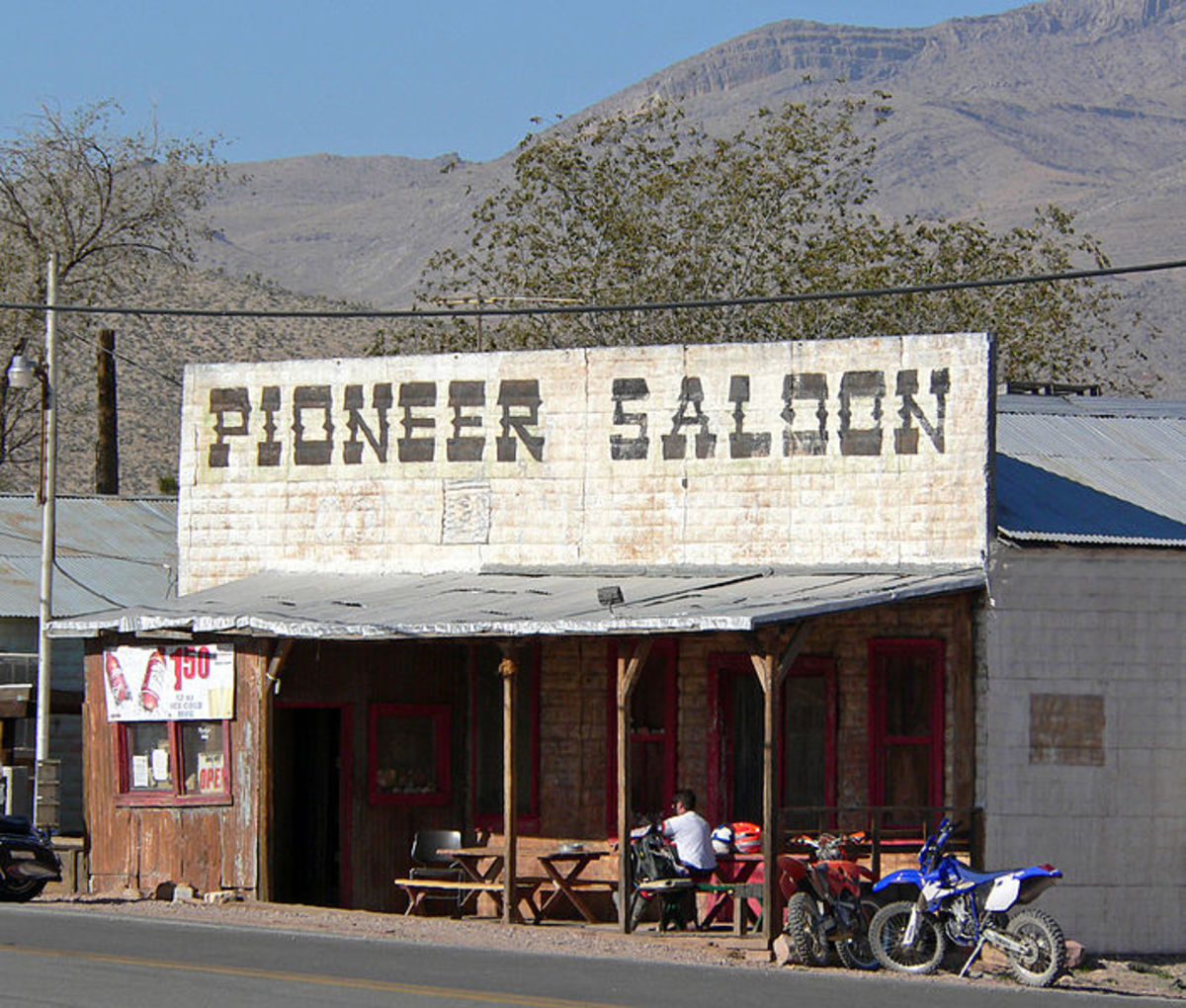 The Old Pioneer Saloon, built in 1913,  still standing and still operating today.