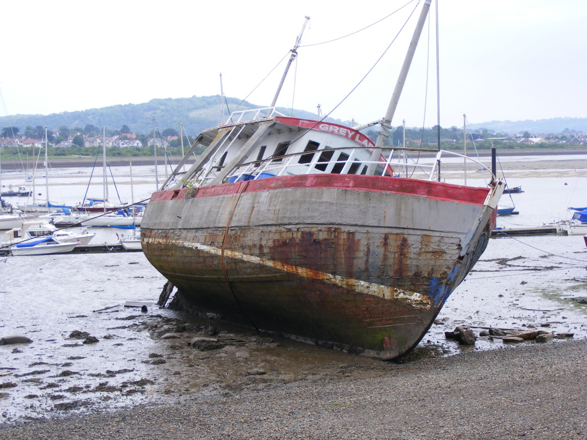Beached boat - don't end up like this!