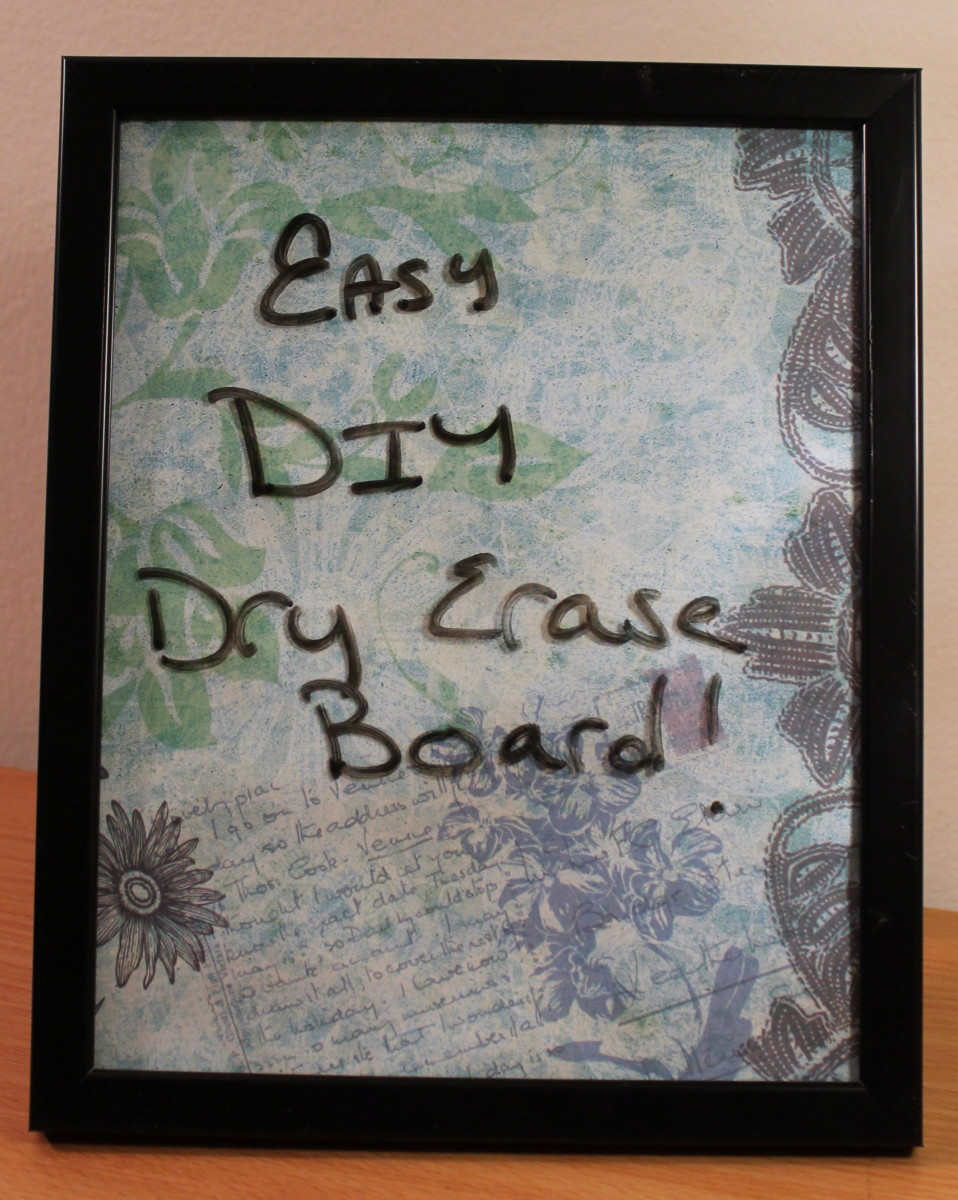 How to Make a Dry Erase Board | DIY Glass Dry Erase Board
